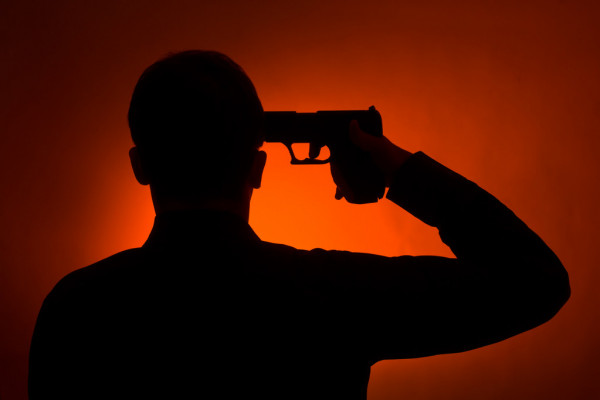 самоубийсво пистолет