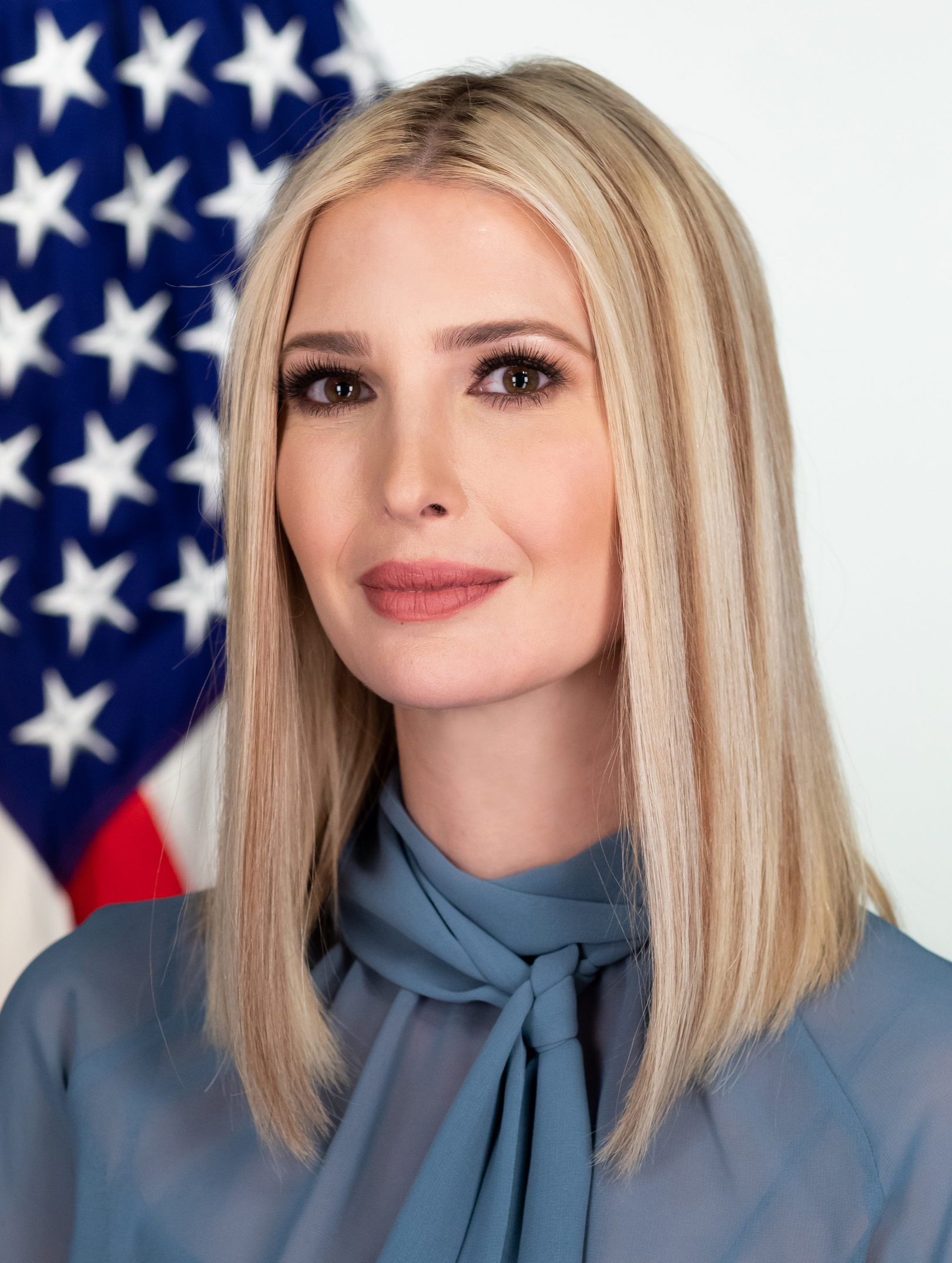 Ivanka Trump has an updated official portrait taken in the Eisenhower Executive Office Building of the White House Wednesday, Feb. 12, 2020. (Official White House Photo by Andrea Hanks)