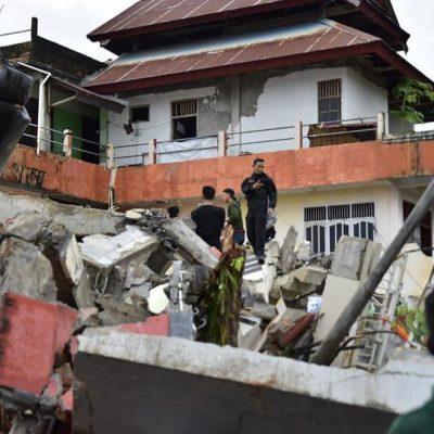 Индонезия земетресение