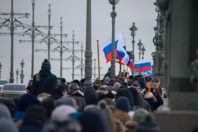Протести Русия