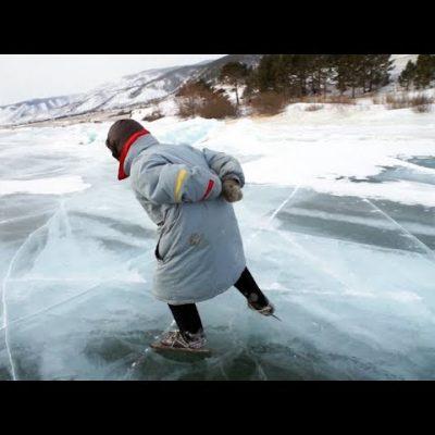79 годишна жена кара кънки на лед
