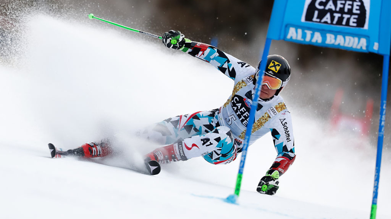 ALTA BADIA, ITALY - DECEMBER 18: Marcel Hirscher of Austria competes during the Audi FIS Alpine Ski World Cup Men's Giant Slalom on December 18, 2016 in Alta Badia, Italy (Photo by Alexis Boichard/Agence Zoom/Getty Images)