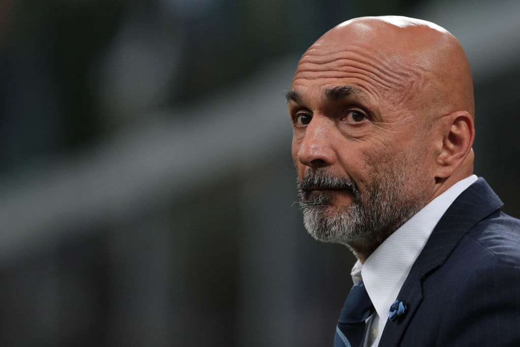 MILAN, ITALY - MAY 26:  FC Internazionale coach Luciano Spalletti looks on during the Serie A match between FC Internazionale and Empoli FC at Stadio Giuseppe Meazza on May 26, 2019 in Milan, Italy.  (Photo by Emilio Andreoli/Getty Images)