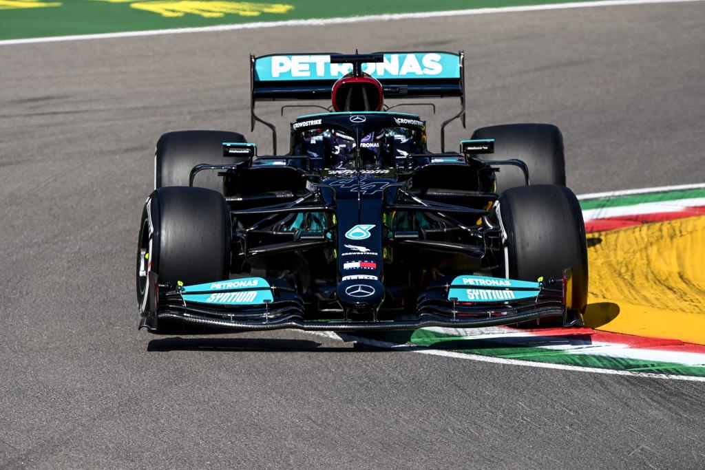 Formel 1 - Mercedes-AMG Petronas Motorsport, Großer Preis der Emilia Romagna 2021. Lewis Hamilton   Formula One - Mercedes-AMG Petronas Motorsport, Emilia Romagna GP 2021. Lewis Hamilton