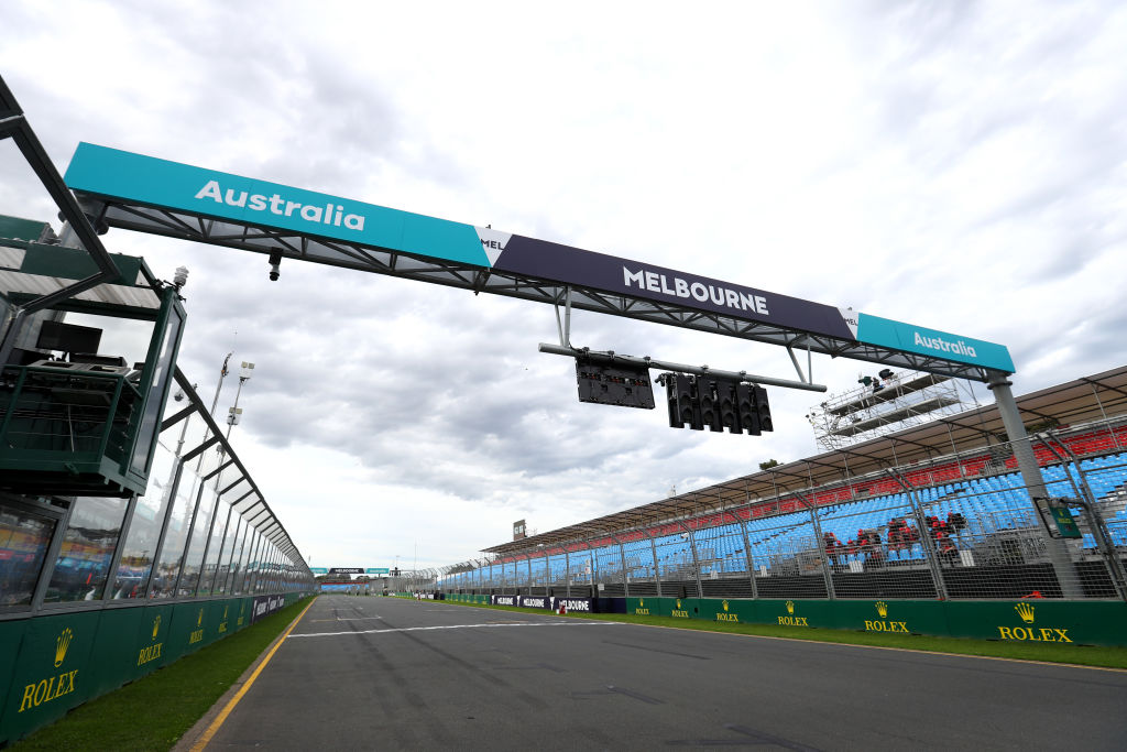 MELBOURNE, AUSTRALIA - MARCH 13: A general view of the circuit before practice for the F1 Grand Prix of Australia at Melbourne Grand Prix Circuit on March 13, 2020 in Melbourne, Australia. (Photo by Robert Cianflone/Getty Images)