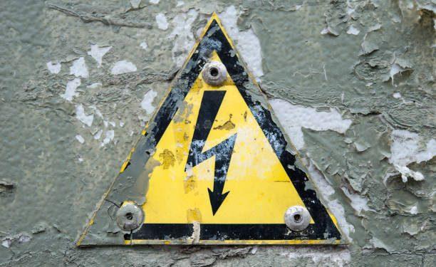 High voltage shock hazard sign